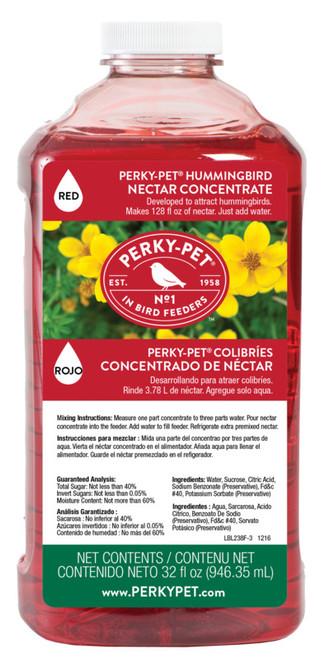 Perky-Pet Hummingbird Nectar Liquid Concentrate, 32 Oz. Bottle