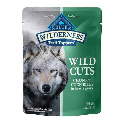 Blue Buffalo Wilderness Wild Cuts Chunky Duck Bites Trail Toppers, 3 Oz. Bag