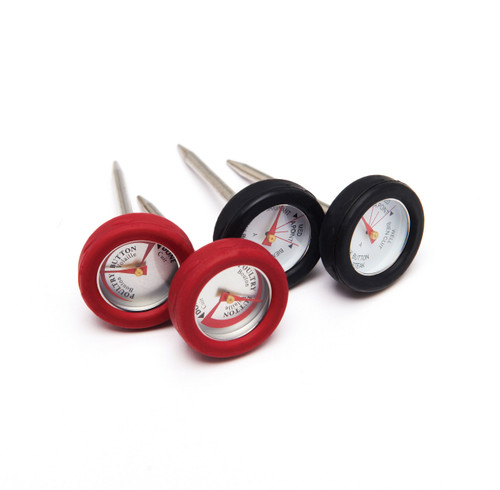 Grill Pro Mini Meat Thermometers with Bezels, 4 Pack
