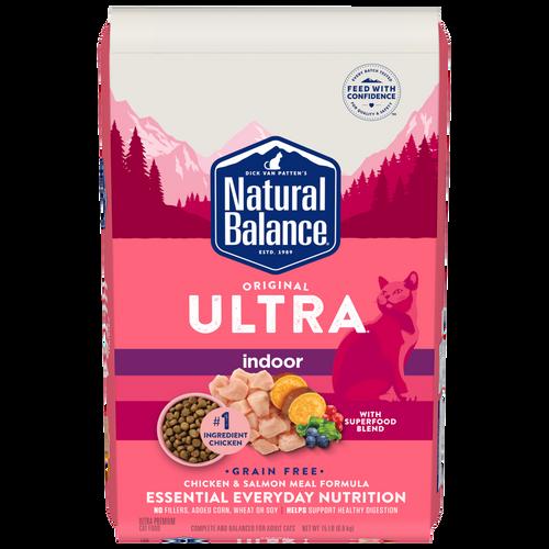 Natural Balance Original Ultra Indoor Chicken & Salmon Meal Formula Dry Cat Food, 15Lb. Bag