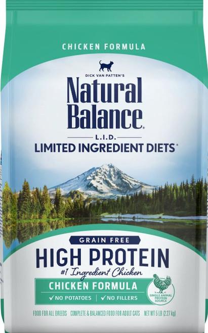 Natural Balance L.I.D. High Protein Chicken Formula Dry Cat Food, 5Lb. Bag