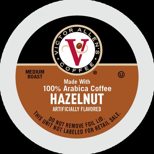 Victor Allen's Coffee Medium Roast Hazelnut Flavored Coffee, 42 Single Serve Pods
