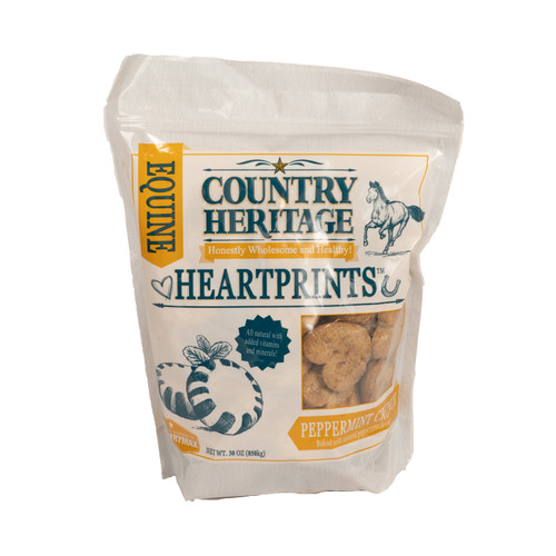 Country Heritage Heartprints Peppermint Horse Treats, 30oz. Bag