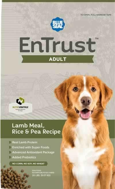 Blue Seal EnTrust Adult Lamb Meal, Rice & Pea Dog Food