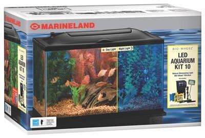 Marineland Bio-Wheel LED Aquarium Kit, 10 Gallon