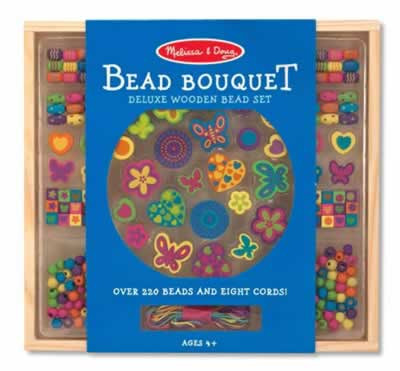 Melissa Doug Bead Bouquet Deluxe Wooden Bead Set