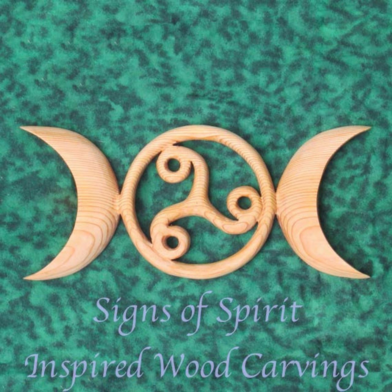 Celtic Moon Goddess Symbol with Triskele-Birth Death Rebirth-Triple Moon  Goddess-Maiden Mother Crone