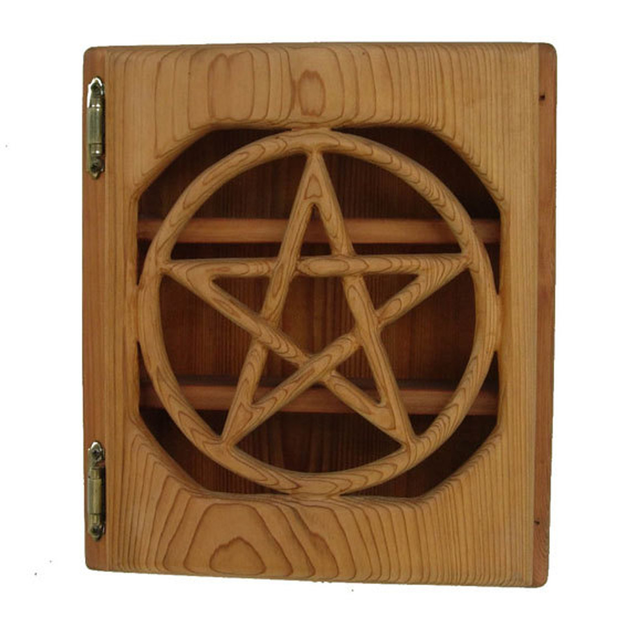 Pentacle Altar Box Protection Ritual Tool Wiccan Pagan Altar Cabinet