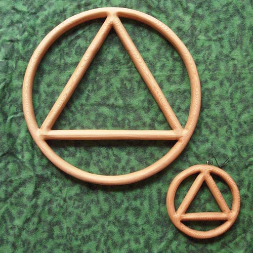 Alcoholics Anonymous Wood Carved Symbol of 12 Step Program by Signs of Spirit