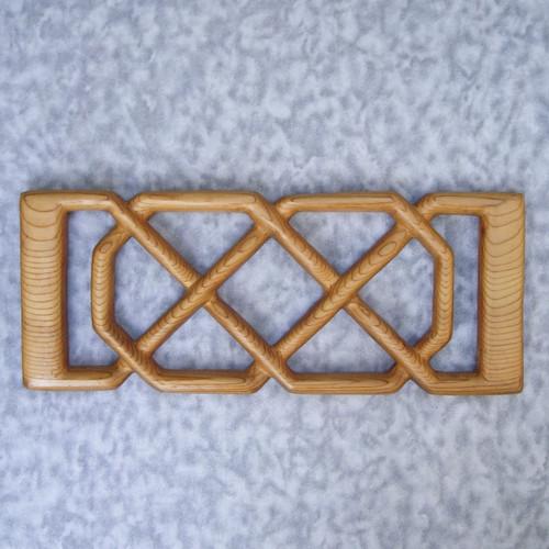 Empress Josephine's Love Knot - Wood Carved Celtic Knot