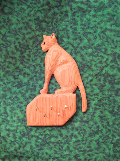Puss and Hooks-Cat carved Key Holder-Pussy Cat Carving Key Rack