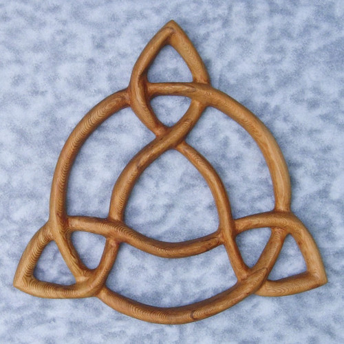 """Open Triquetra"" wood carving by Signs of Spirit."