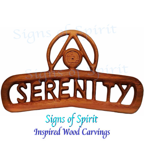 Serenity Anniversary Chip Holder-Sobriety Birthday Chip-AA Recovery Chip Display-Recovery Medallion holder