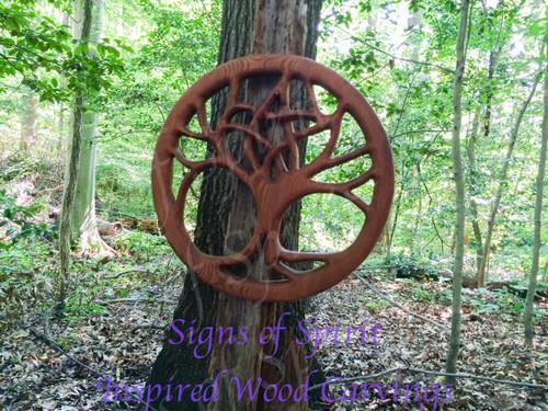 Druid Tree-Pentacle Tree-World Tree-Nature Based Altar Celtic Wood Carving
