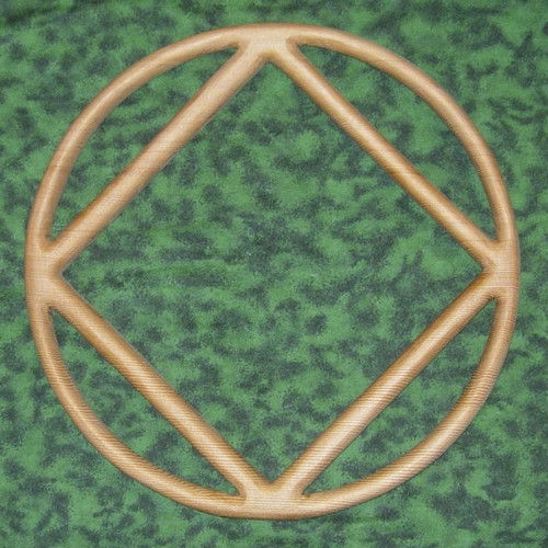 Narcotics Anonymous Recovery Symbol and Wiccan Circle Squared Circle of Communion