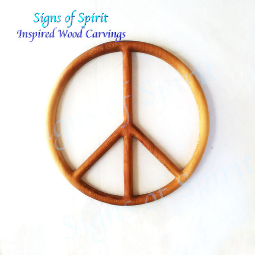 Peace Symbol wood carving by Signs of Spirit