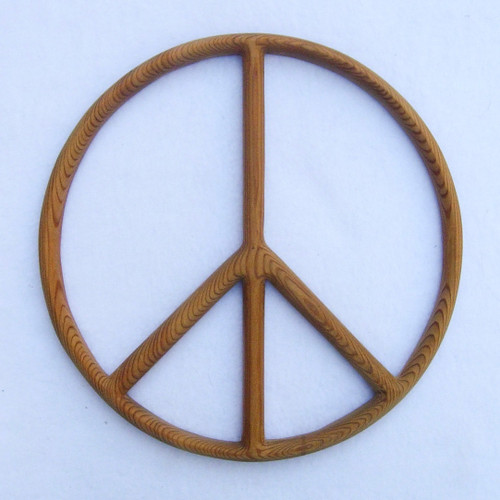 Peace Sign-Wood Carved Peace Symbol-Peace Movement