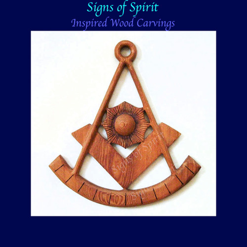 Past Master of Lodge Masonic Symbol-Sun Quadrant for Worshipful Master by Signs of Spirit