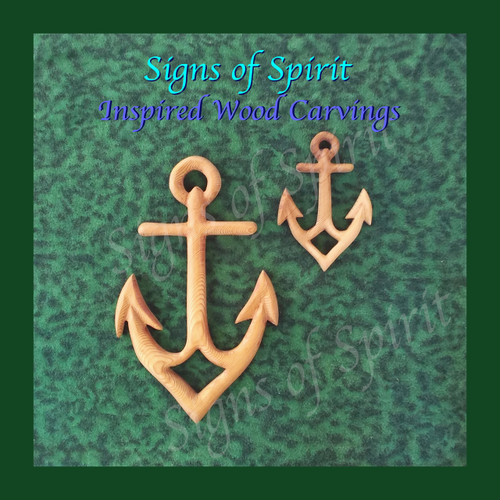 Anchor wood carving-Sailor Strength Stability Connection to Sea-Nautical wall decor-Maritime Art-Naval -Christian Symbol of Hope-Steadfast by Signs of Spirit