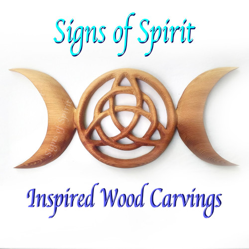 Triple Moon Goddess Triquetra-Celtic Pagan Symbol-Wiccan Protection by Signs of Spirit
