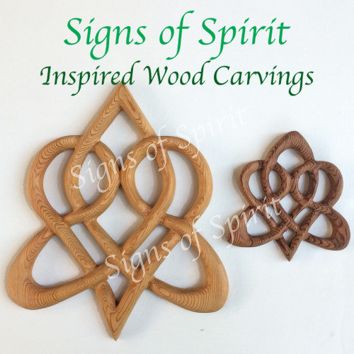 Miniature Stylized Celtic Heart from Signs of Spirit