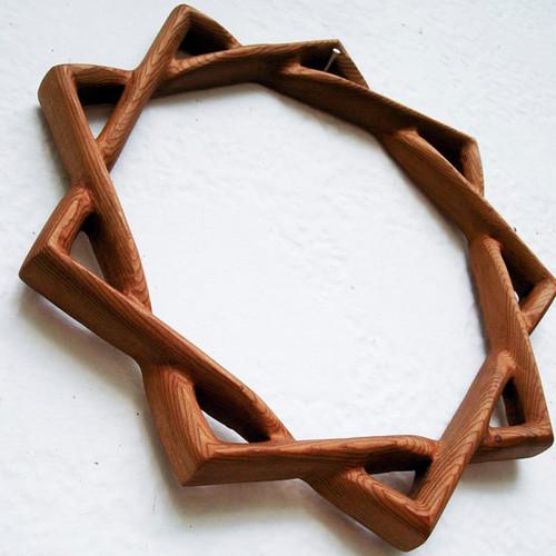 Baha'i Symbol of Faith -Nine-pointed Star-Single Line Variation