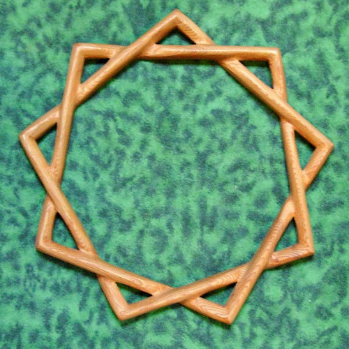 Baha'i Symbol of Faith -Nine-pointed Star-Single Line Variation