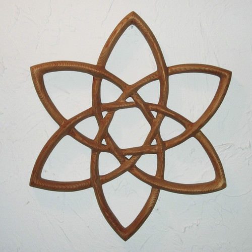 Double Trinity Wood Carving by Signs of Spirit