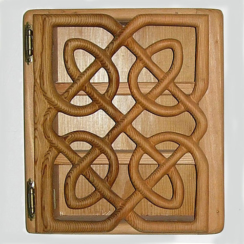 Matrimonial Cabinet Celtic Knot of Endless Devotion Wood Carving
