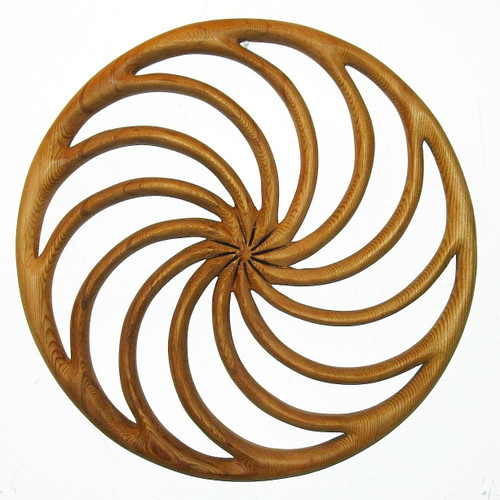Wheel of the Year-Wood Carved Spiral Calendar