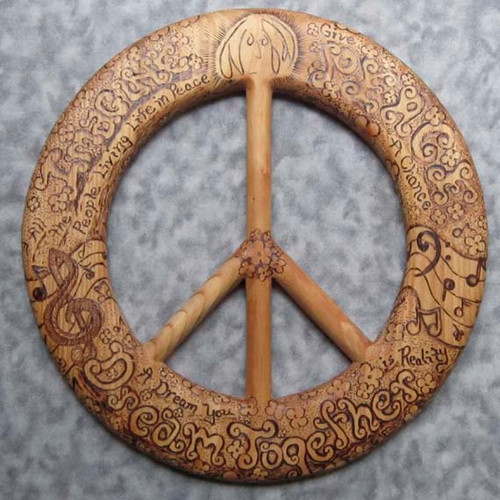 Lennon Peace Sign by Signs of Spirit