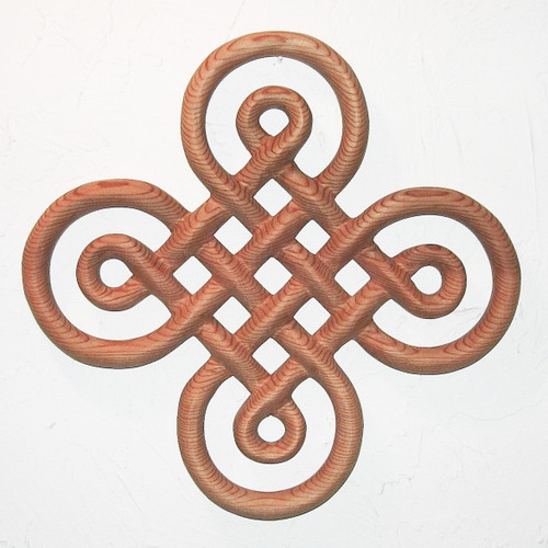 Celtic Knot of Discovery wall hanging Book of Kells Irish home decor Ornamental Cross Wood Carving  Double Line Knotwork Symbol