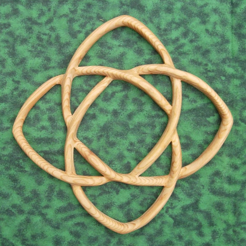 Celtic Knot of Healing wood carving by Signs of Spirit
