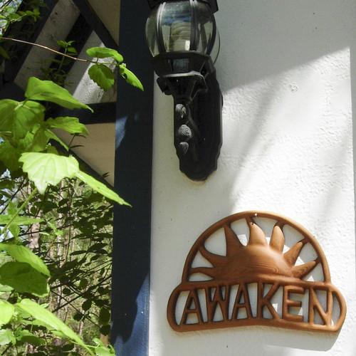 Awaken Sunrise Wood Carving