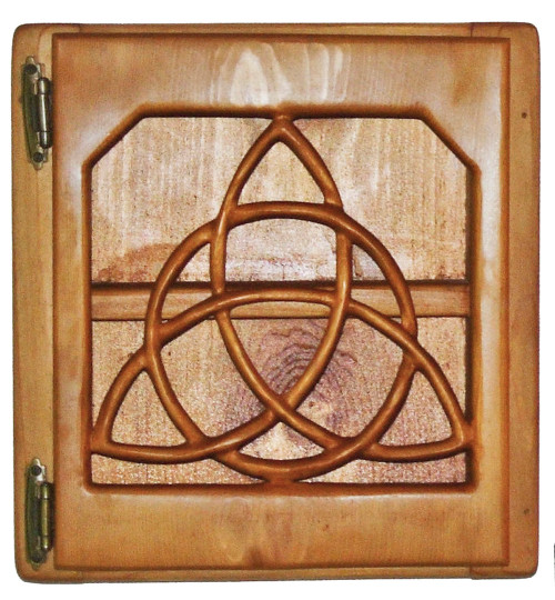 Triquetra Cabinet wood carving by Signs of Spirit