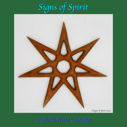 Fairy Star of Enchantment Wood Carving by Signs of Spirit
