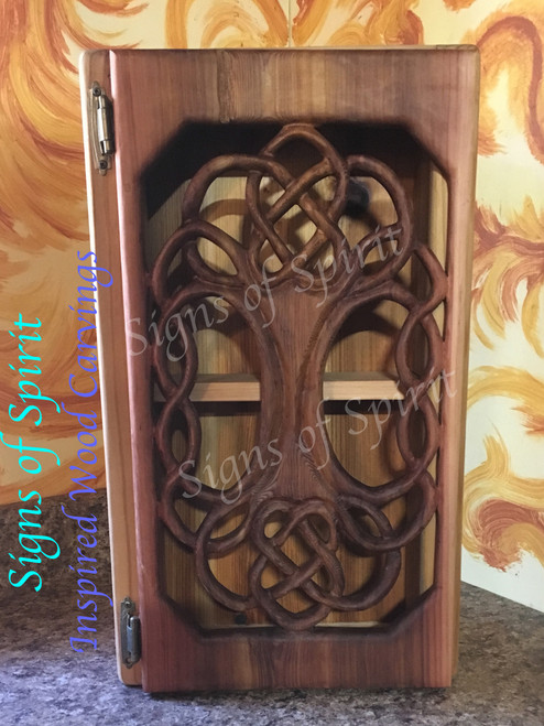 Symmetrical Tree of Life Cabinet by Signs of Spirit