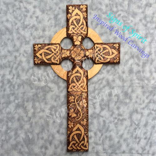 Irish Harmony Celtic Christian Cross by Signs of Spirit