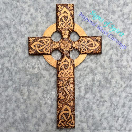 Irish Harmony Celtic Christian Cross by Signs of Spirit