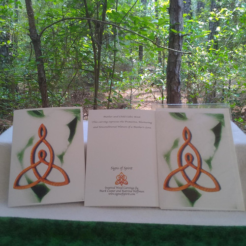 Mother and Child Celtic Love Knot Greeting Card by Signs of Spirit