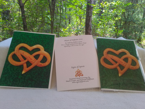Heart of Infinite Love Greeting Card by Signs of Spirit