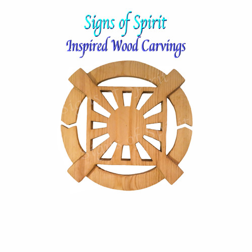 12 Gates, Symbol of the Unification Church wood carving by Signs of Spirit
