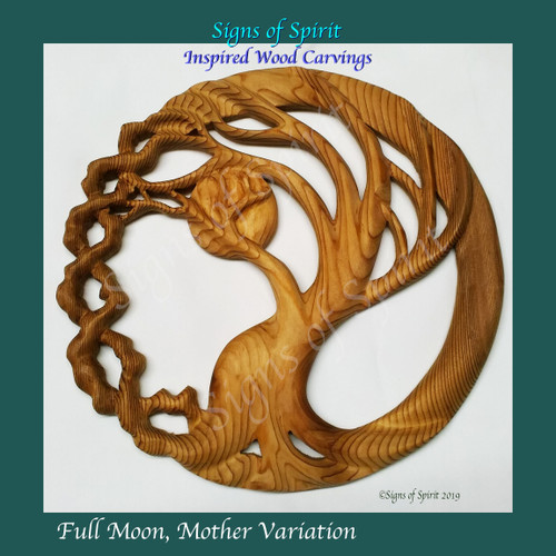 Tree and Moon, Full Moon, Mother by Signs of Spirit.