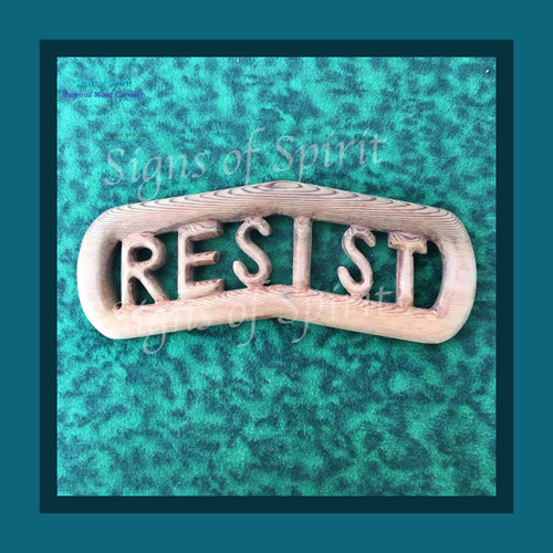 Resist Wood Art Carving by Signs of Spirit