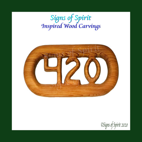 420 Wood Carving from Signs of Spirit ~ Inspired Wood Carvings