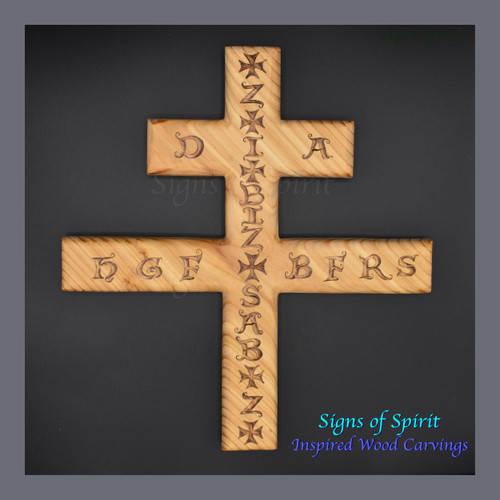 Plague Cross, Prayers Against the Plague wood carving by Signs of Spirit.
