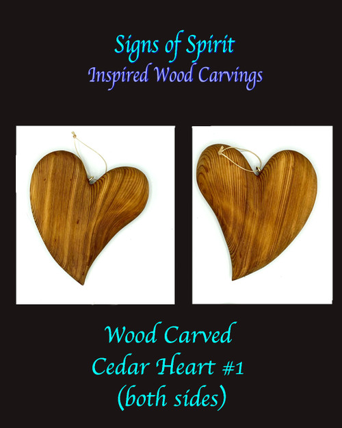 Wood carved Heart #1 by Signs of Spirit