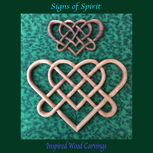 Celtic Wedding  Knot Double Heart Love Knot by Signs of Spirit