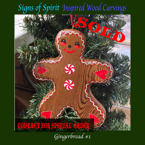 Painted Gingerbread Man by Signs of Spirit