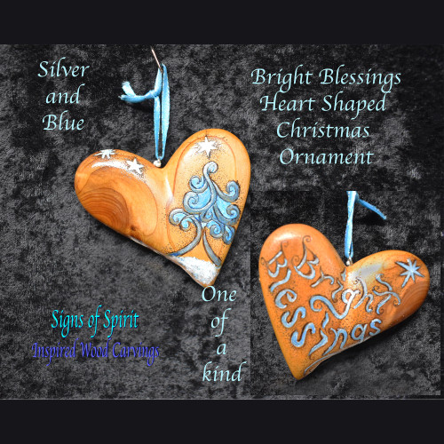 Bright Blessings Christmas Tree Ornament by Signs of Spirit